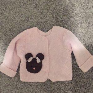 Corky girls pink sweater cardigan 12-18 months